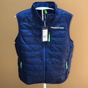 Vineyard Vines Mountain Weekend Vest Blue M 12 14